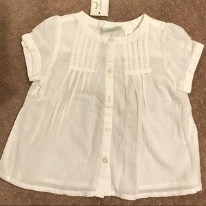 First Impressions Baby Girl White Top